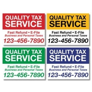 tax lawn sign template 13