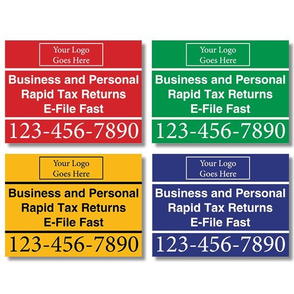 tax lawn sign template 02