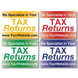 tax lawn sign template 05